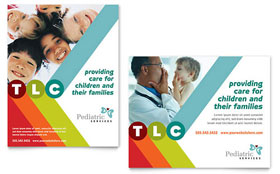 Pediatrician & Child Care - Poster Template Design Sample