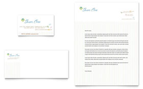 Elder Care & Nursing Home - Business Card & Letterhead