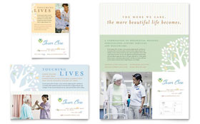 Elder Care & Nursing Home - Flyer & Ad Template Design Sample