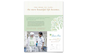 Elder Care & Nursing Home - Flyer Template