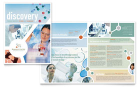 Medical Research - Microsoft Word Brochure Template