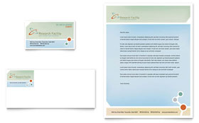 Medical Research - Business Card & Letterhead Template Design Sample