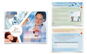 Medical Research - PowerPoint Presentation Template Design Sample