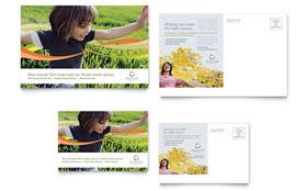 Health Insurance Company - Postcard Template