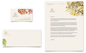 Health Insurance Company - Business Card & Letterhead Template Design Sample