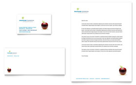 Healthcare Management - Business Card & Letterhead Template Design Sample