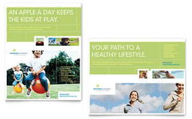Healthcare Management - Poster Template Design Sample