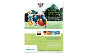 Healthcare Management - Flyer Template Design Sample