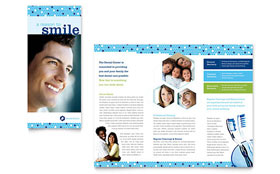 Dentistry & Dental Office - Microsoft Word Brochure Template