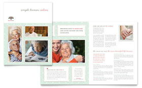 Senior Care Services - QuarkXPress Brochure Template