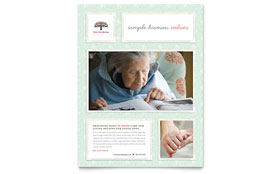 Senior Care Services - Flyer Template