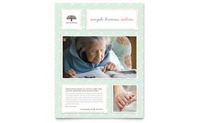Senior Care Services - Flyer Template