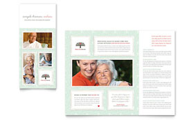 Senior Care Services - Adobe Illustrator Tri Fold Brochure Template