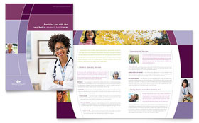 Women's Health Clinic - Brochure Template Design Sample