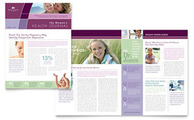 Women's Health Clinic - Newsletter Template Design Sample