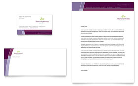 Women's Health Clinic - Business Card & Letterhead Template Design Sample