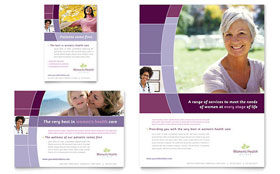 Women's Health Clinic - Flyer & Ad Template Design Sample