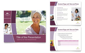 Women's Health Clinic - PowerPoint Presentation Template Design Sample