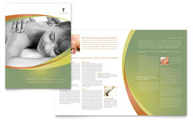 Massage & Chiropractic - Microsoft Publisher Brochure Template