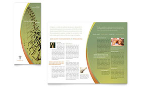 Massage & Chiropractic - Tri Fold Brochure Template Design Sample