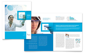 Science & Chemistry - Brochure Template Design Sample
