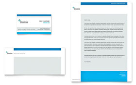 Science & Chemistry - Business Card & Letterhead Template Design Sample
