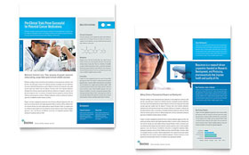 Science & Chemistry - Datasheet Template Design Sample