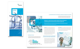 Science & Chemistry - Tri Fold Brochure Template Design Sample