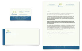 Senior Living Community - Business Card & Letterhead Template Design Sample