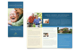 Senior Living Community - Tri Fold Brochure Template Design Sample