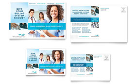 Medical Billing & Coding - Postcard Template Design Sample