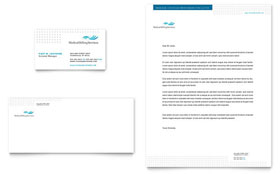 Medical Billing & Coding - Business Card & Letterhead Template Design Sample