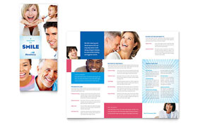 Family Dentistry - Microsoft Publisher Tri Fold Brochure Template