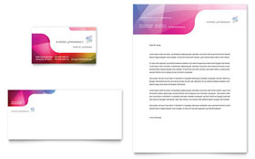 Pharmacy School - Business Card & Letterhead Template Design Sample