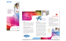 Pharmacy School - Microsoft Word Tri Fold Brochure Template