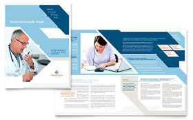 Medical Transcription - Brochure Template Design Sample