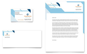 Medical Transcription - Business Card & Letterhead Template Design Sample