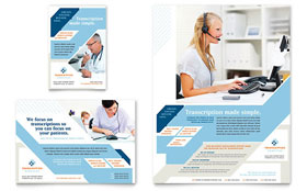 Medical Transcription - Flyer & Ad Template Design Sample
