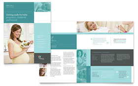 Pregnancy Clinic - Brochure Template Design Sample