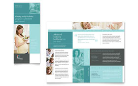 Pregnancy Clinic - Apple iWork Pages Tri Fold Brochure Template