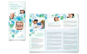 Orthodontist - Graphic Design Tri Fold Brochure Template