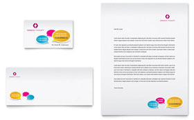 Speech Therapy Education - Business Card & Letterhead
