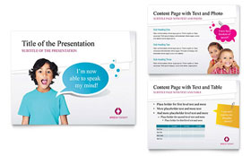 Speech Therapy Education - PowerPoint Presentation Template
