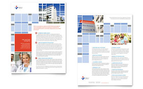 Hospital - Sales Sheet Template Design Sample