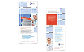 Hospital - Rack Card Template Design Sample