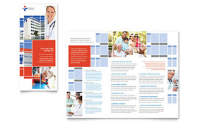 Hospital - Tri Fold Brochure Template Design Sample