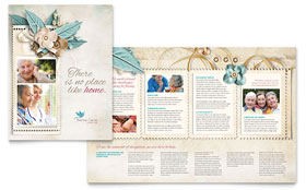 Hospice & Home Care - Brochure Template Design Sample