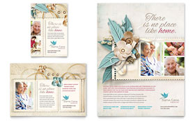 Hospice & Home Care - Print Ad Sample Template
