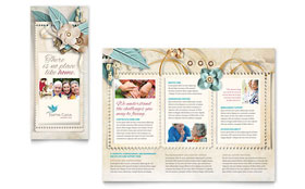 Hospice & Home Care - Tri Fold Brochure Template Design Sample