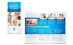 Reflexology & Massage - Adobe Illustrator Brochure Template